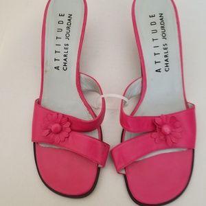 Charles Jourdan Attitude Pink Sandals 9.5M